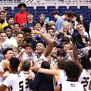 Saint Anthony's High School sports team celebrating.