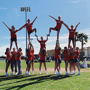 Cheerleaders at Saint John's High School.